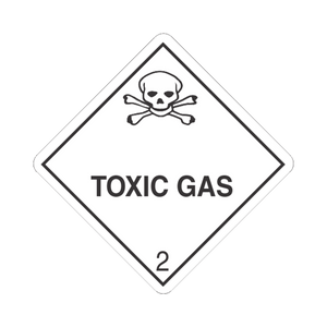 "Class 2 Toxic Gas Mini-Labels (500 Roll, 1""x1"") - (DGMINI23)"