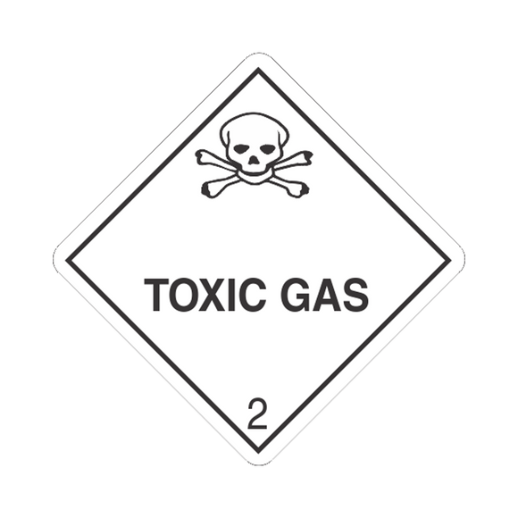 Class 2 Toxic Gas Mini-Labels (500 Roll, 1
