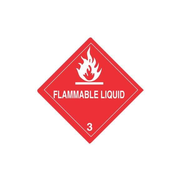Class 3 Flammable Liquid Mini-Labels (500 Roll, 1