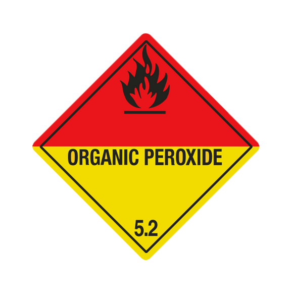 Division  5.2 Organic Peroxide Mini-Labels (500 Roll, 1