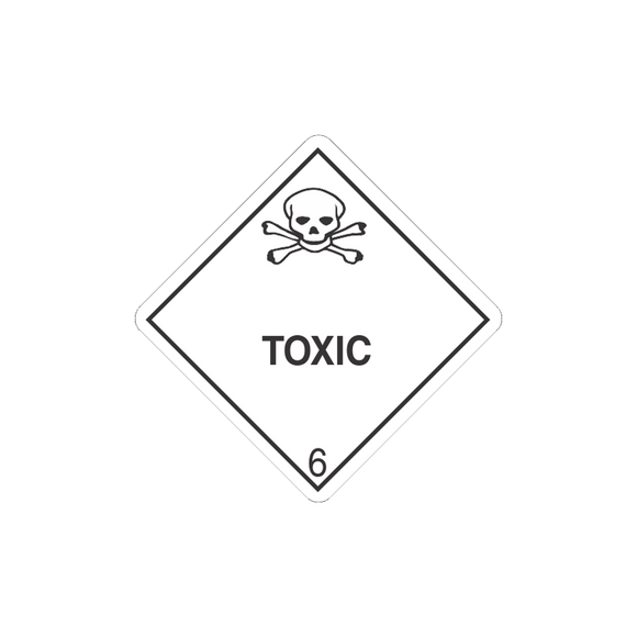 Class 6 Toxic Mini-Labels (500 Roll, 1