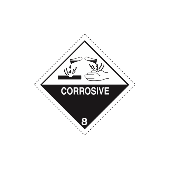 Class 8 Corrosive Mini-Labels (500 Roll, 1