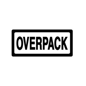 "Overpack Labels (500 Roll, 4""x4"") - (DGOVERPACK)"
