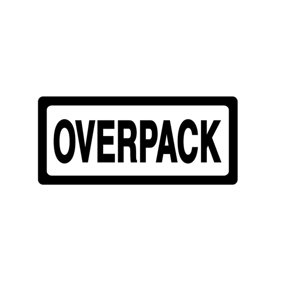 Overpack Labels (500 Roll, 4
