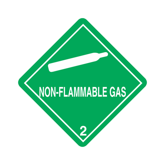 Class 2 Non-Flam Pressure Sensitive Placard (25 pack, 10