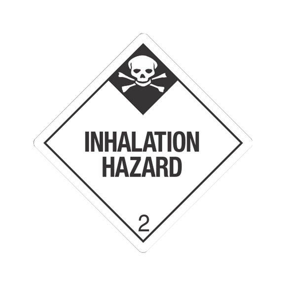 Class 2 Inhalation Hazard Tagboard Placards (25 pack, 10