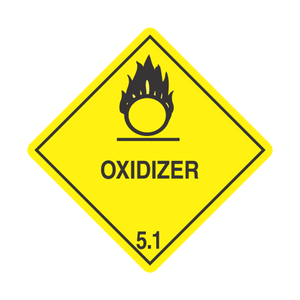 "Division 5.1 Oxidizer Tagboard Placards (25 pack, 10""x10"") - (DGPT51)"
