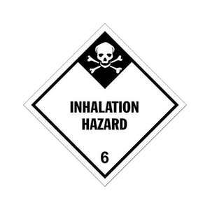 "Class 6 Inhalation Tag Placards (25 pack, 10""x10"") - (DGPT6INH)"