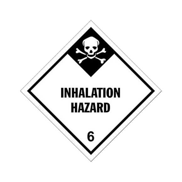 Class 6 Inhalation Tag Placards (25 pack, 10