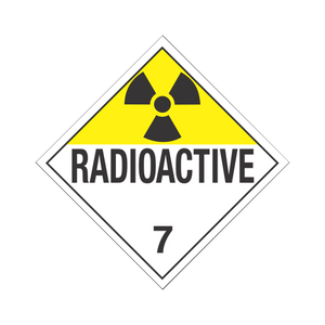 "Class 7 Radioactive Tagboard Placards (25 pack, 10""x10"") - (DGPT7)"