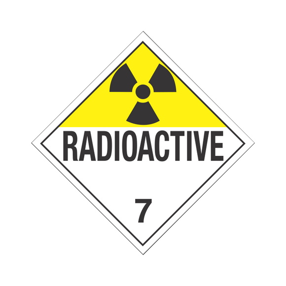 Class 7 Radioactive Tagboard Placards (25 pack, 10