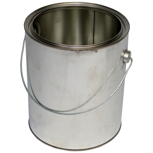 1-Gallon (US) Unlined Steel Paint Can, bail included - (IP3-1GB)