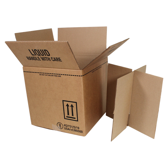 4G 4-1 GALLON JUG SHIPPER BOX - (KT4G-KDPE13)