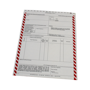 Shipper's Declaration Form - 4 Part Carbonless - Pin Feed - (SD1)