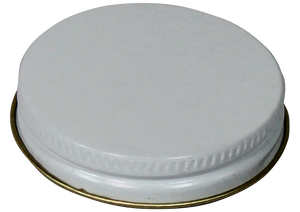 C48/400WMP/P (48/400 White Metal Cap With P/Poly Liner) <b>(3700/Case)</b>