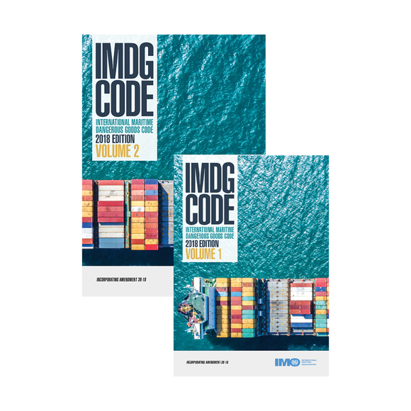 IMO International Maritime Dangerous Goods Code - IMDG CODES 39-18 (2 VOLUME SET)