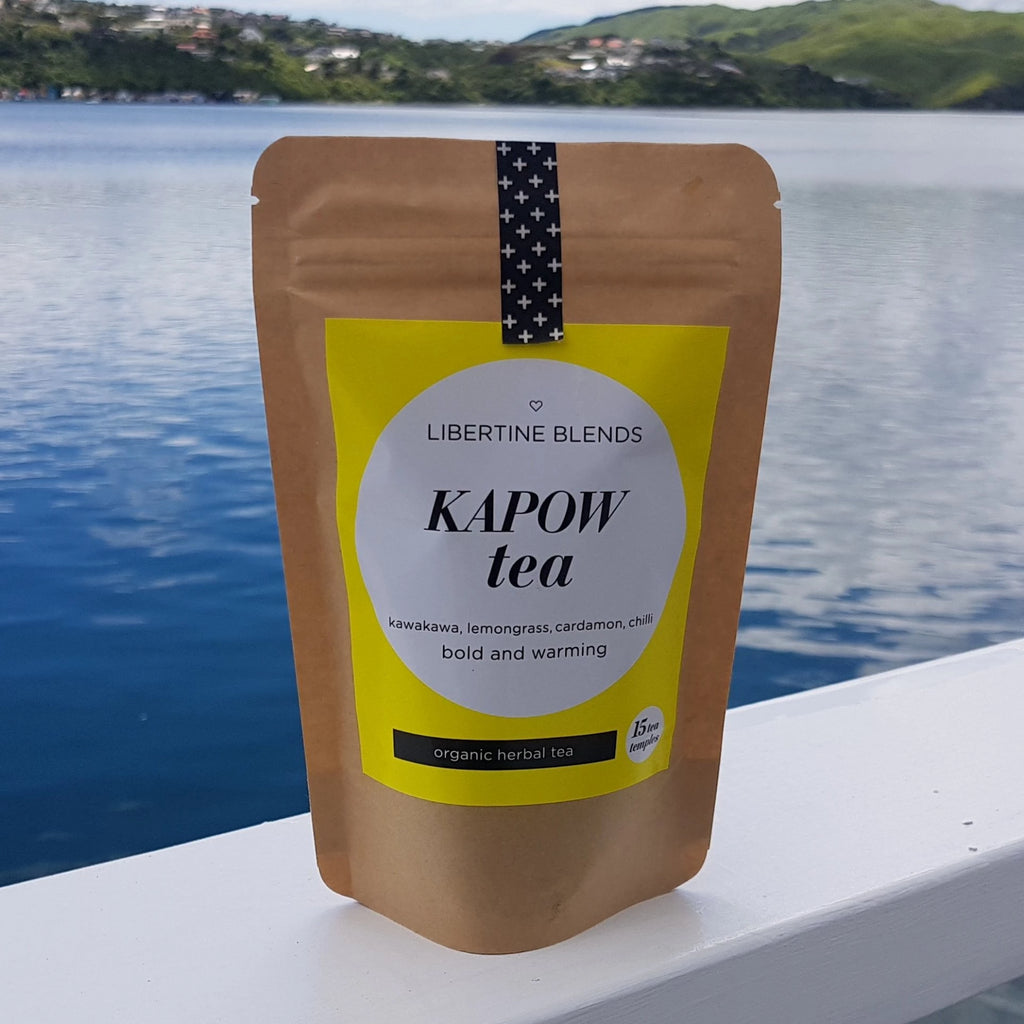 KAPOW - kawakawa, lemongrass, cardamon, chilli Tea