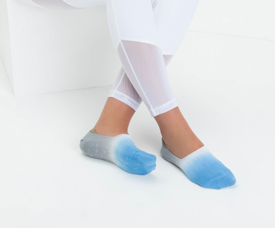 Barely There Footlet - Tie-Dye Blue