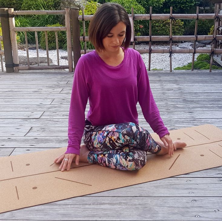 KoAlign™ Cork Alignment Yoga Mat