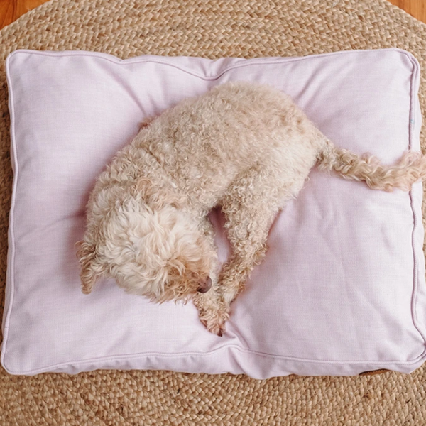 Woven Dog Bed - Blush