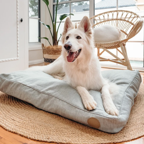 Woven Dog Bed - Sage