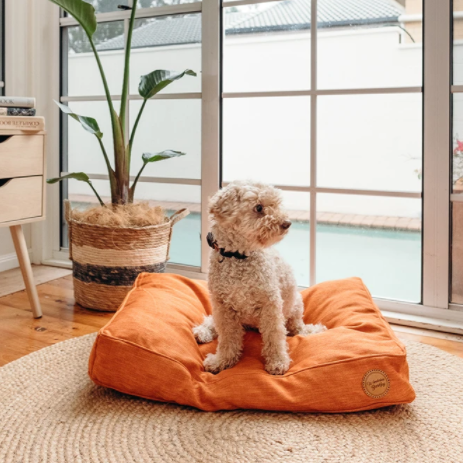 Woven Dog Bed - Terracotta