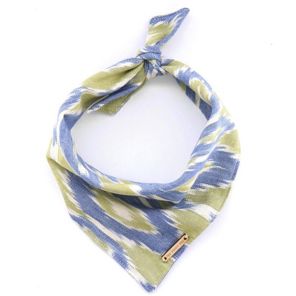Blue + Green Ikat Limited Edition Bandana