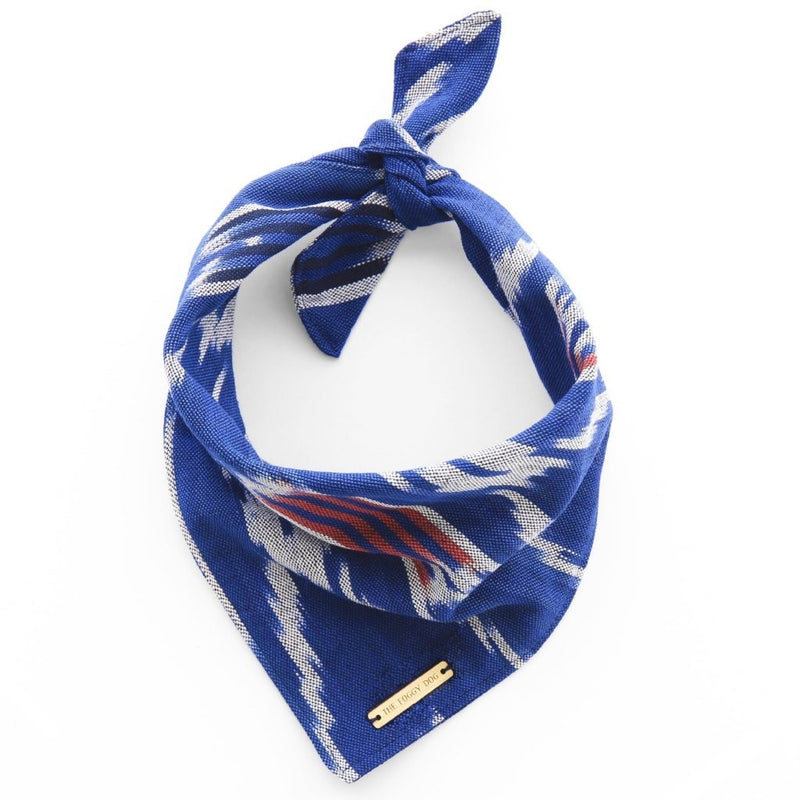 Navy + Red Ikat Limited Edition Bandana