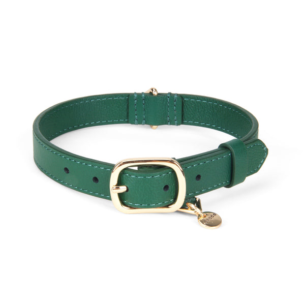 Leather Collar - Evergreen