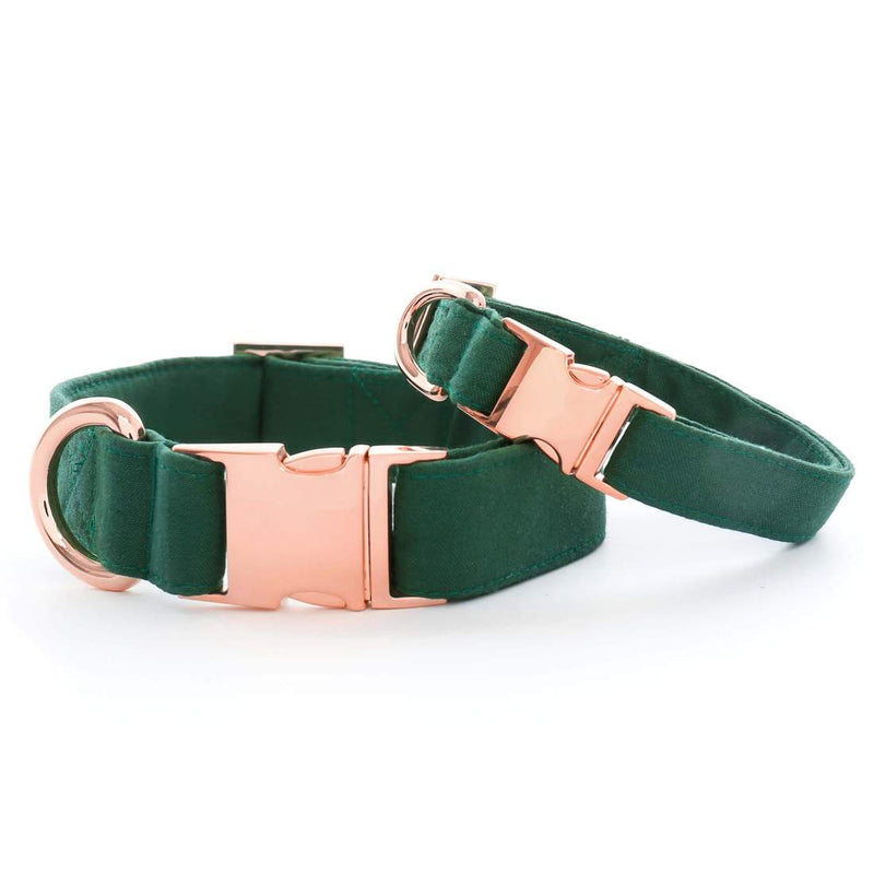 Evergreen Dog Collar - Rose Gold Hardware