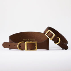 Hound Leather Dog Collar - Brown
