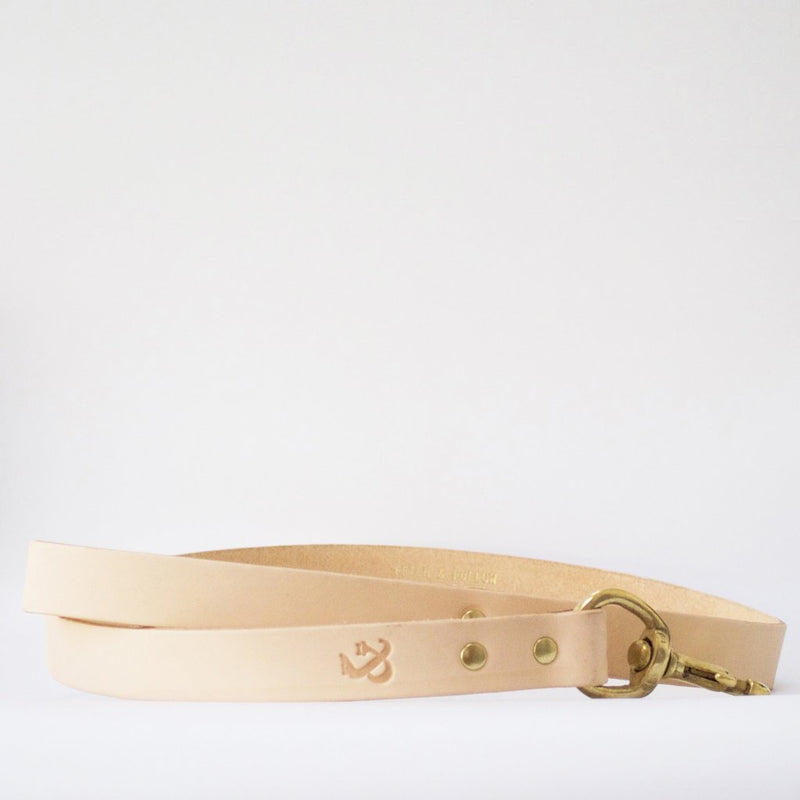 Leather Dog Lead - Natural