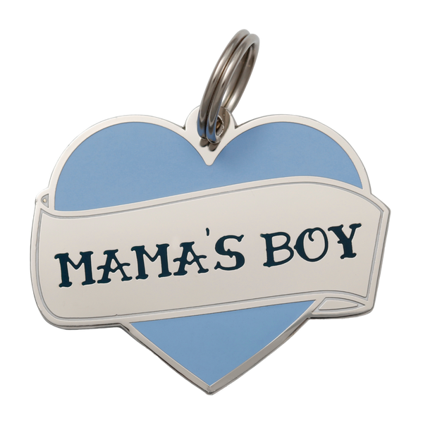 Mama's Boy Collar Tag