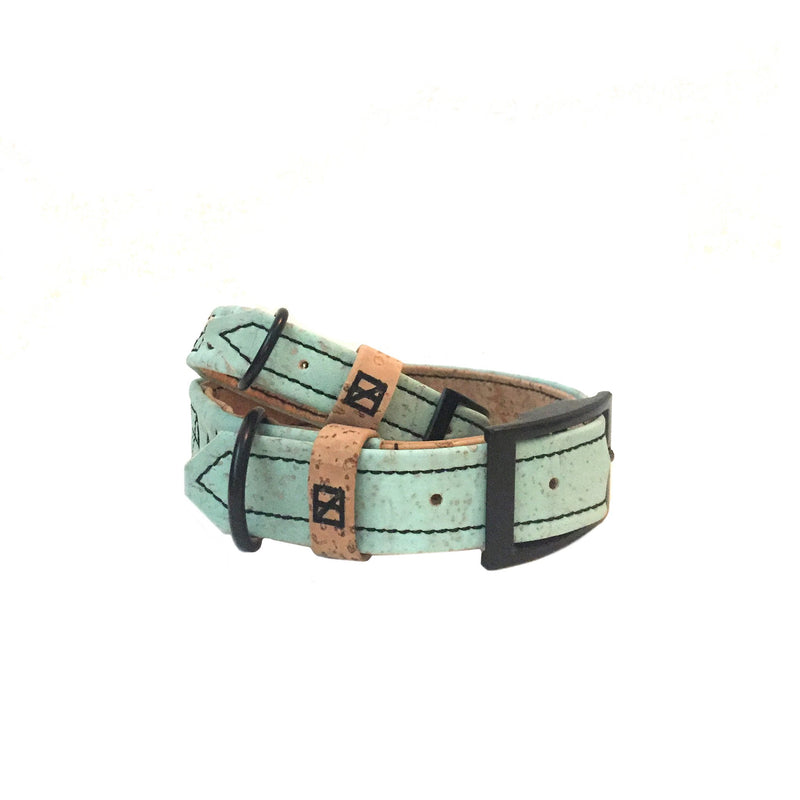 Cork & Hemp Collar - Sea Foam