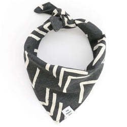Modern Mud Cloth Black Bandana