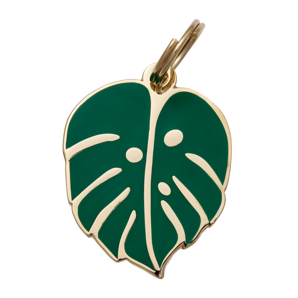Monstera Leaf Collar Tag