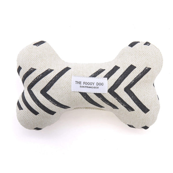 Modern Mud Cloth Squeaky Toy Bone