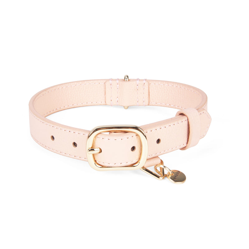 Leather Collar - Pale Blush