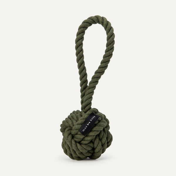 Large Twisted Rope Toy - Olive