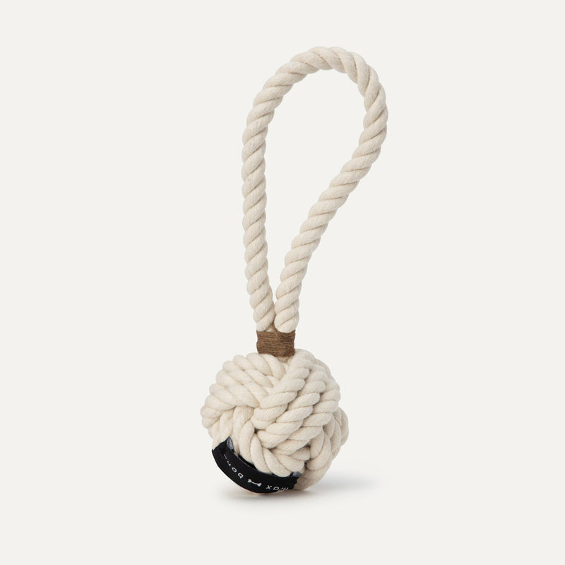 Small Twisted Rope Toy - Cream