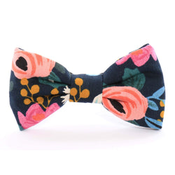 Rosa Floral Navy Bow Tie