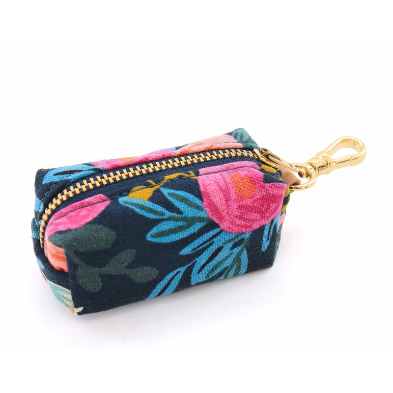 Rosa Floral Navy Waste Bag Dispenser