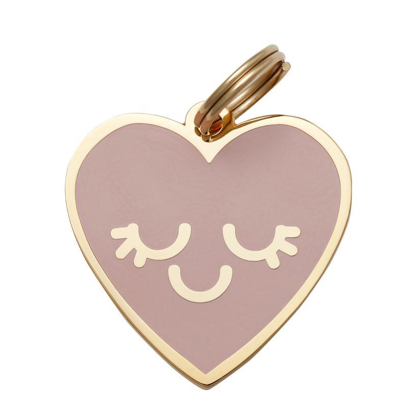 Smiling Heart Collar Tag