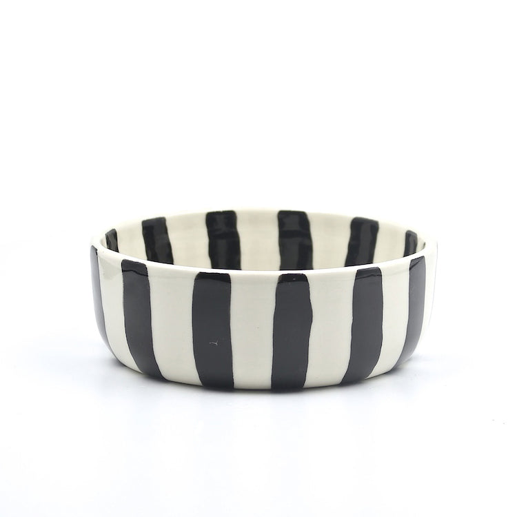 Stripe Dog Bowl