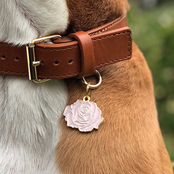 Rose Collar Tag