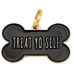 Treat yo Self Collar Tag - Black