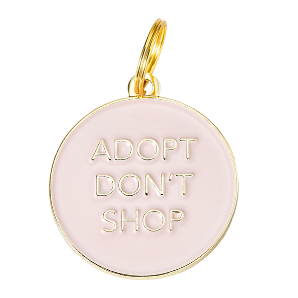 Adopt Don't Shop Collar Tag - Pink