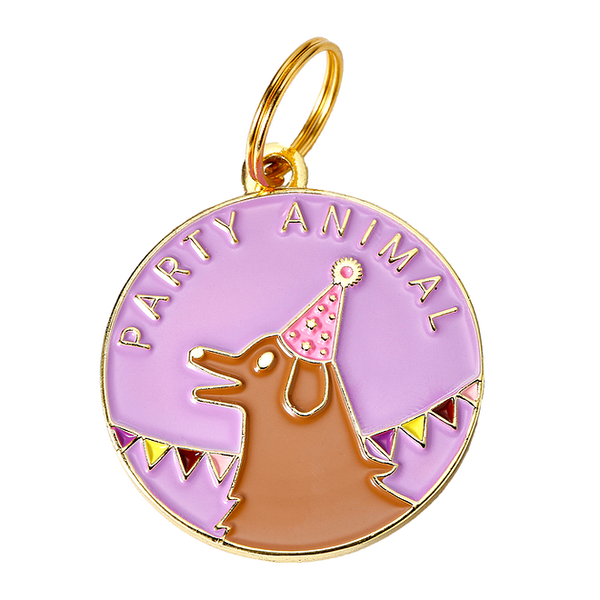 Party Animal Collar Tag