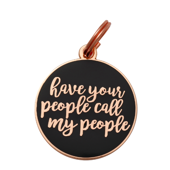 Have Your People Collar Tag - Navy