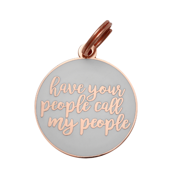 Have Your People Collar Tag - White